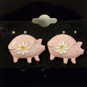 Other - Daisy Piggy Bank Post Earrings